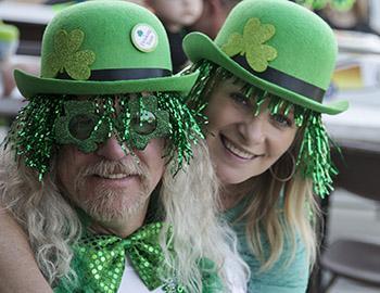 Family wearing Irish garb at the Italian Irish Festival