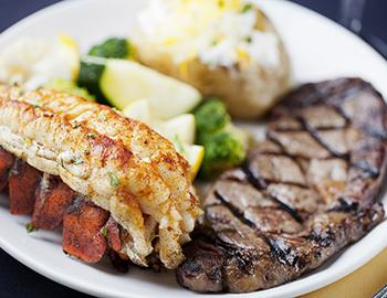 Surf and turf from a Myrtle Beach restaurant