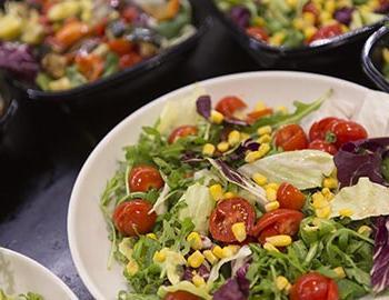 Salad bar at a buffet