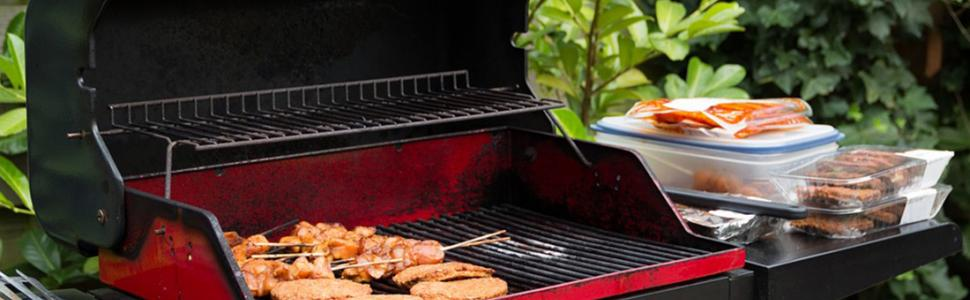 BBQ Grill with BBQ on it