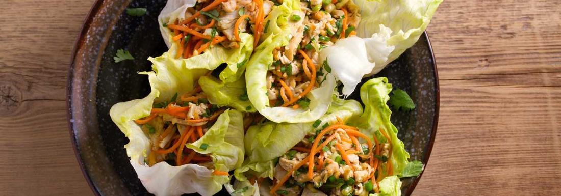 Fresh chicken lettuce wrap