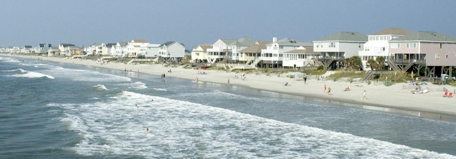 Surfside Beach homes and shore