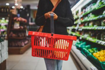 A woman shops at a Myrtle Beach grocery store