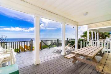 View from the deck of an oceanfront rental